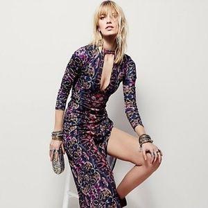 Free People Cabaret long sleeve maxi dress L